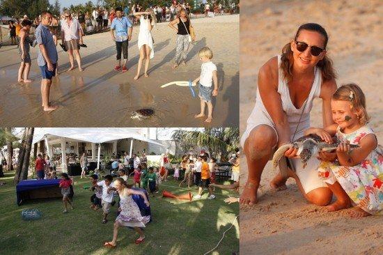 Laguna Phuket Releases Young Sea Turtles