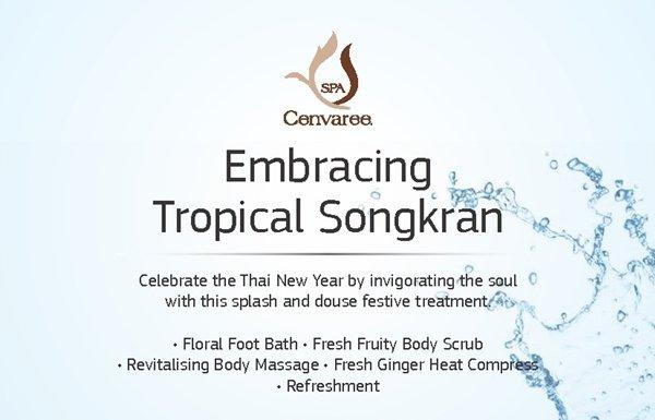 Embracing Tropical Songkran at Spa Cenvaree