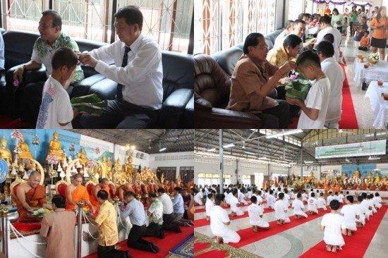 Phuket's mass ordination of novice monks