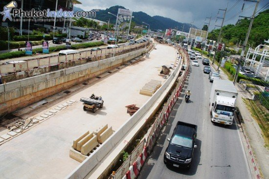 Phuket's Darasamuth Underpass only 74% complete