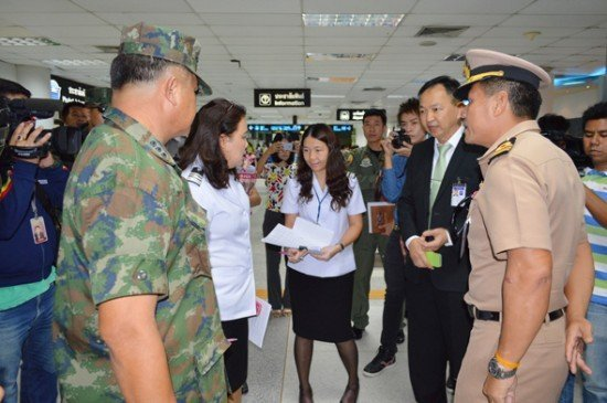 Royal Thai Navy in Phuket Airport cleanup operation