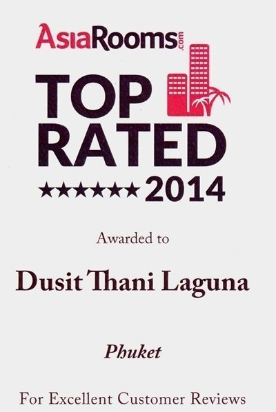 Dusit Thani Phuket one of AsiaRooms Top Rated 2014