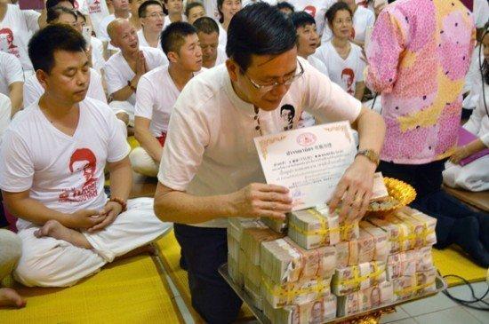 Chinese man donates 30 million baht to Phuket Temple