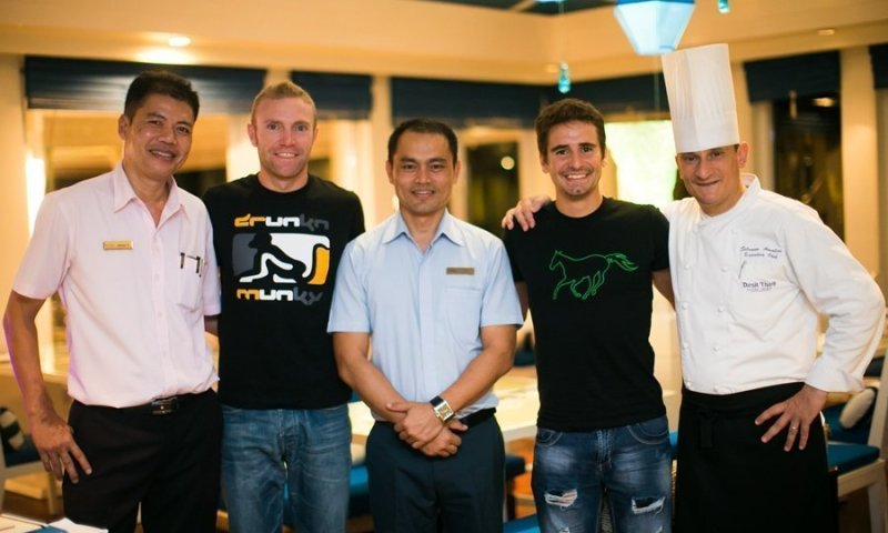 Dual Triathlon Champs Dine at Phuket's La Trattoria