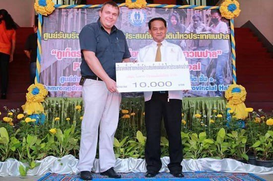 Igor Protasov, CEO Nai Harn Beach Condiminium to be support help gor Nepal with Our Phuket Governor - Nisit Jansomwong at recently.