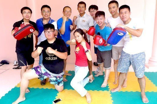 TAT with media from Shanghai join a Thai Boxing class during their stay Centara Grand Beach Resort Phuket