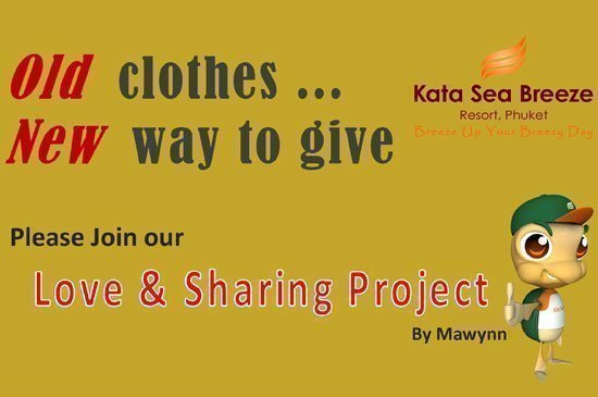 Please join Love & Sharing Project with Kata Sea Breeze