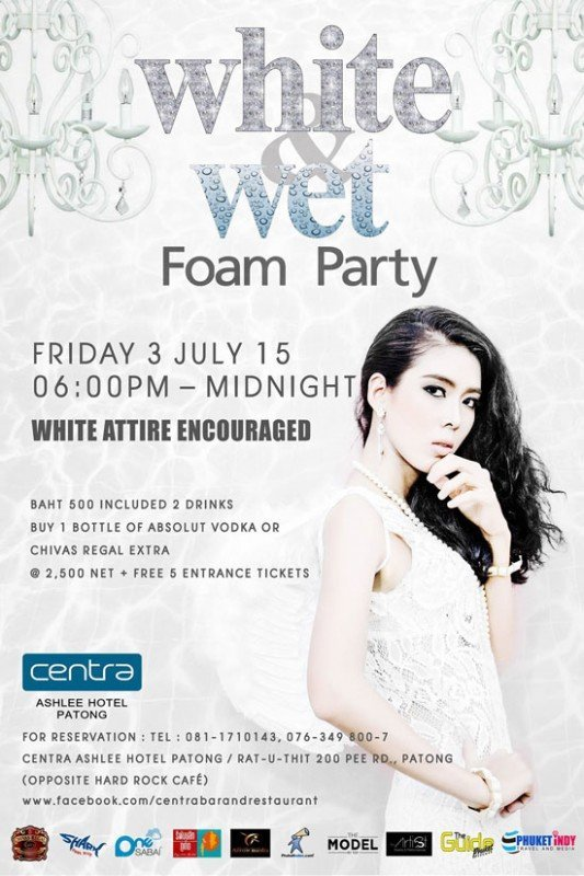 White & Wet Foam Party