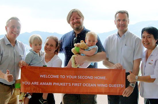Amari Phuket checked in The First Ocean Wing Guests