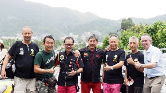 From left to right: Les Vorosmarthy, Chris Poon, Dato Eric Loo, Steven Goh, Chow Thean Yu, Oh Kah Beng, Pierre-Andre Pelletier