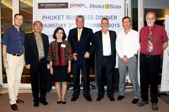 Mr Richard Marco – Hotel Manager, Amari Phuket, Dr Punlop Singhasenee – Phuket Vice Governor, Ms Anoma Vongyai – TAT Phuket Director, Mr Dale Lawrence – SKAL Thailand President, Mr Grenville Fordham – Image Asia Company,               Mr Nick Porter – General Manager, Mövenpick Hotel and Mr Chris Thatcher – BCCT Vice Chairman