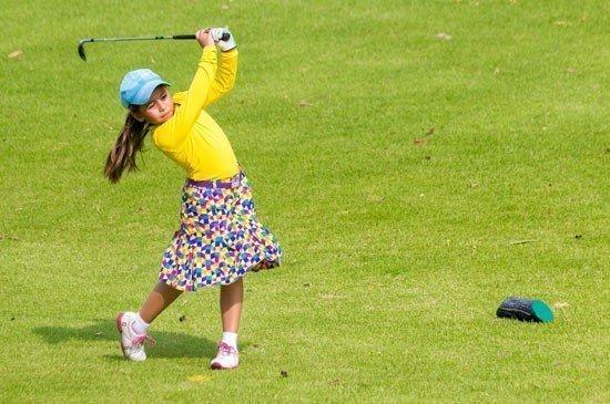 Louise Landgraf showed her swings at the upgraded Laguna Phuket Golf Club, during its 1st Junior Golf Tournament, held on Sunday 21 June 2015.