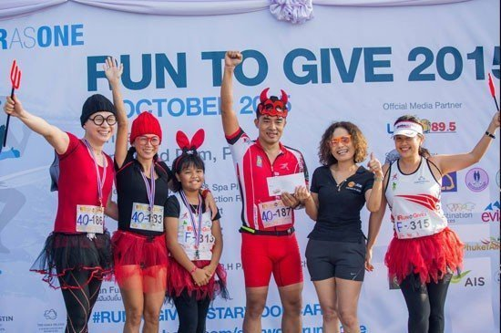 "Charity run event of the year ""Run To Give"", hosted by Starwood Hotels & Resort, Phuket"