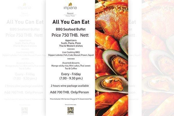 Seafood BBQ Buffet at Impiana Patong