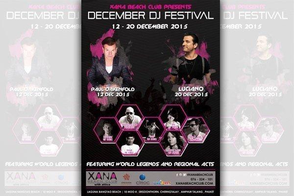 XANA Beach Club Presents December DJ Festival