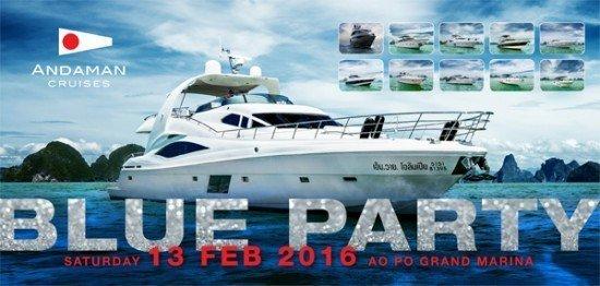 Invitation Blue Party 01