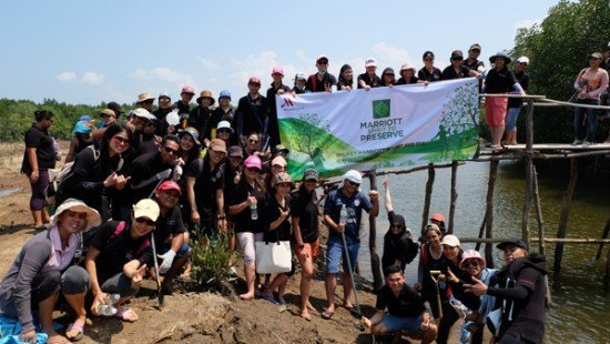 Marriott Hotels in Phuket join hands to help restore and plant the mangroves, and promise to do so every quarter