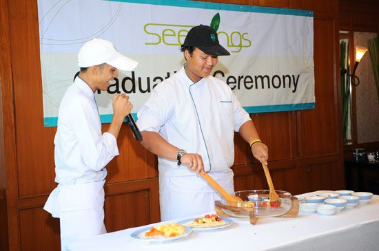 The graduates showcased their skills at the ceremony.