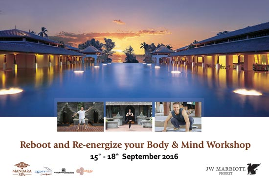 The 4th Reboot and Re-energize your Body & Mind Workshop