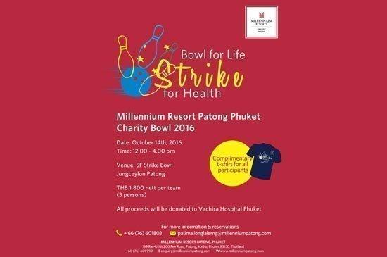 Millennium Resort Patong Phuket – Charity Bowl 2016