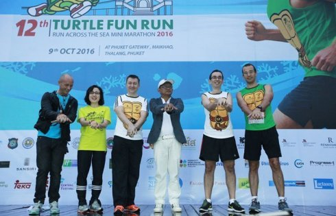 Thump Up to all Runners at The 12th Mai Khao Marine Turtle Fun Run & Mini Marathon 2016 Run across the Sea on Iconic Phuket, Sarasin Bridge