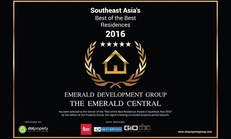 The Emerald Development Group won the prize of Best of the Best Residences 2016 Award