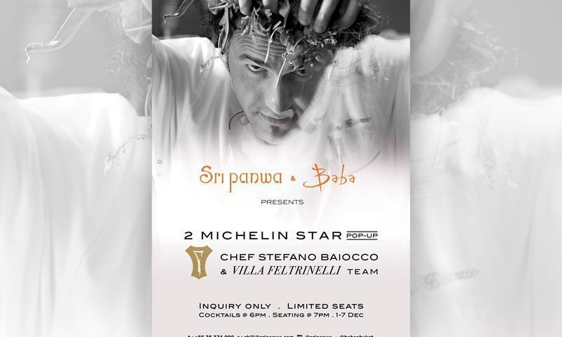 Chef Stefano Baiocco visits Sri panwa for a week of modern Italian culinary delight