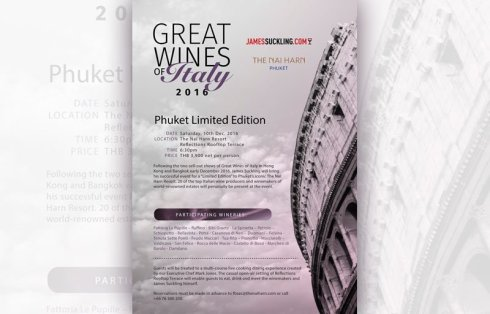 Great Wines of Italy 2016 at The Nai Harn Phuket