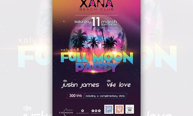 Full Moon Party Volume 8 at XANA Beach Club