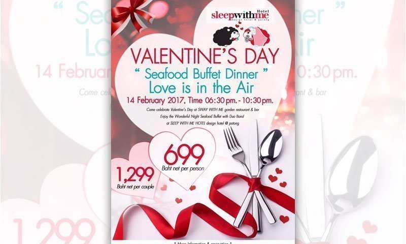 Valentine's Day @ SWAY WITH ME garden restaurant & bar
