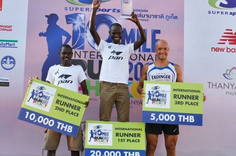 Kenya win Third Supersports 10-Mile International Run 2017 Phuket 2,500 runners turned out for the sold-out race including six-time Ironman Champion Andreas Dreitz