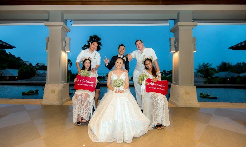 """Phuket Marriott Resort and Spa, Nai Yang Beach Hosts Three Ceremonies for Winners of """"Dream Wedding"""" Contest!"""