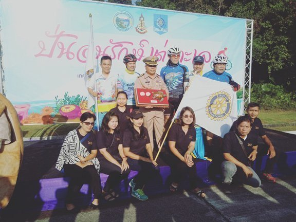 A group of The Vijitt Resort Phuket staff volunteer joined Turtle Ride 2017