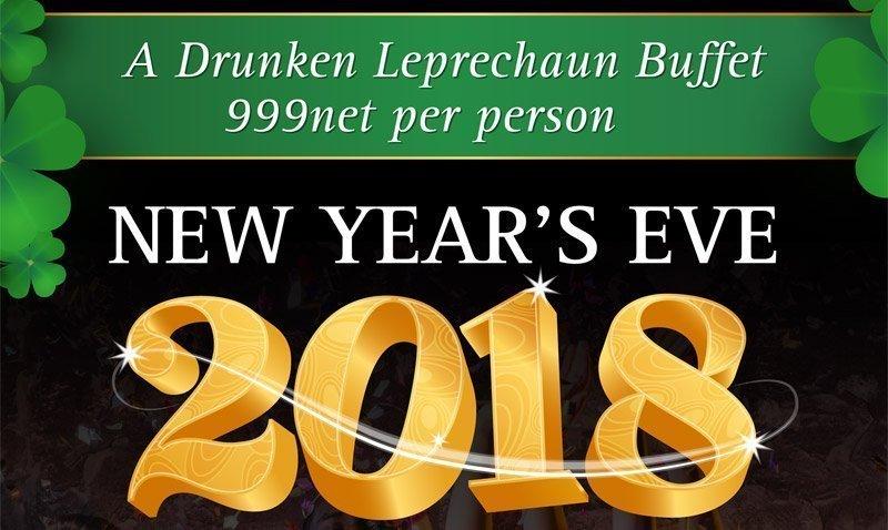 Celebrate New Year's Eve 2018 at The Drunken Leprechaun