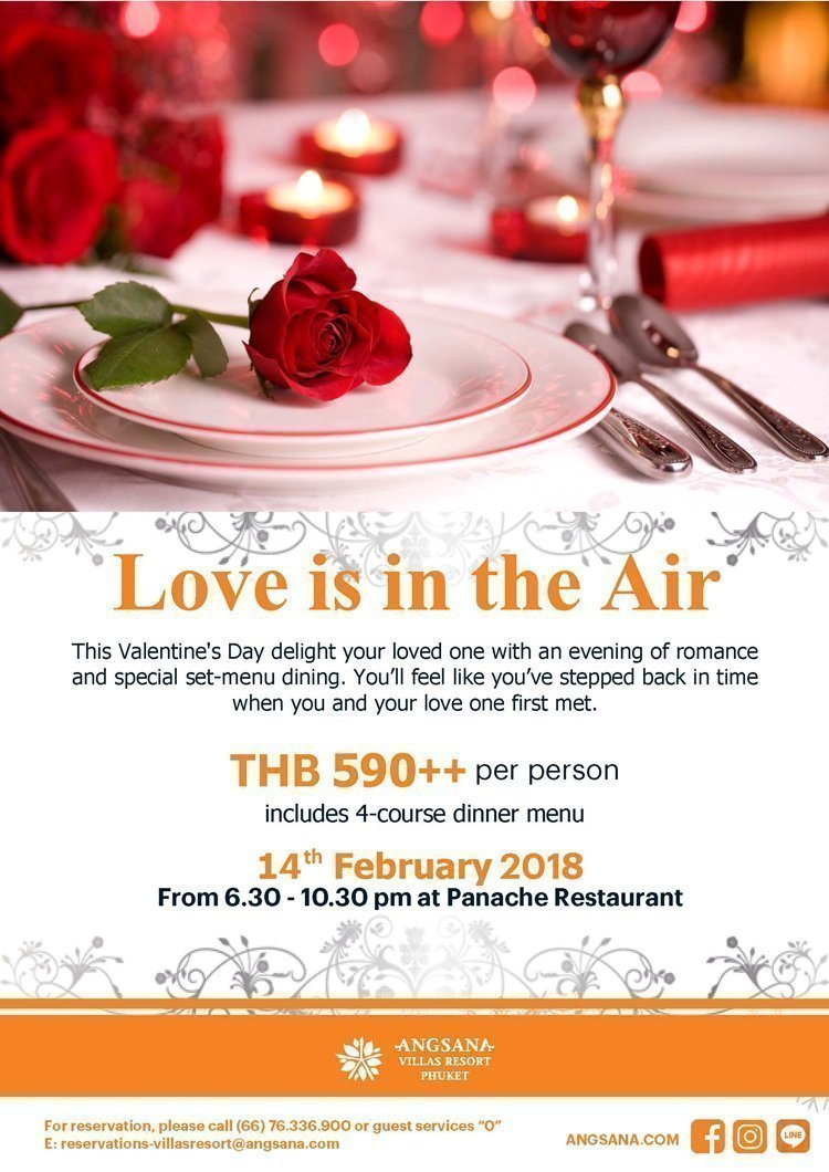 Love is in the Air! - Panache Restaurant