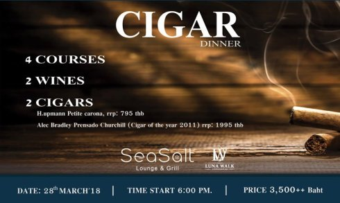 Cigar dinner coming to Sea Salt Lounge & Grill