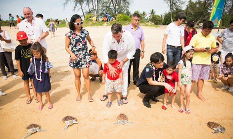Anantara Mai Khao Phuket Villas cooperatively with Mai Khao Marine Turtle Foundation