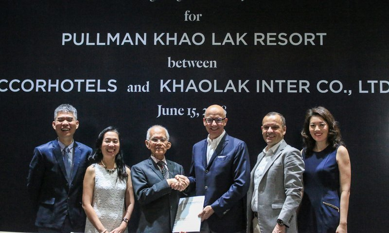 AccorHotels signs agreement with Khaolak Inter Co., Ltd. to launch Pullman Khao Lak Resort