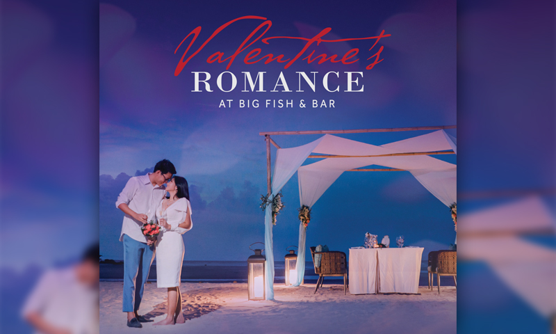 Valentine's Romance at Big Fish & Bar, Phuket Marriott Resort and Spa, Nai Yang Beach