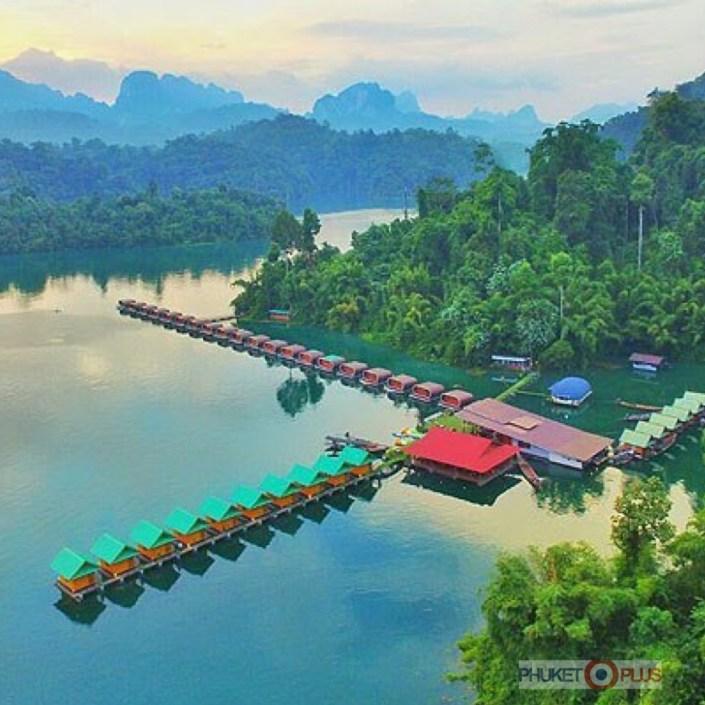 лучший плавучий отель на озере чео лан