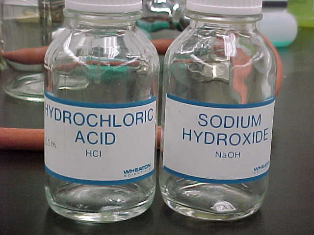 Image result for hydrochloric acid sodium hydroxide