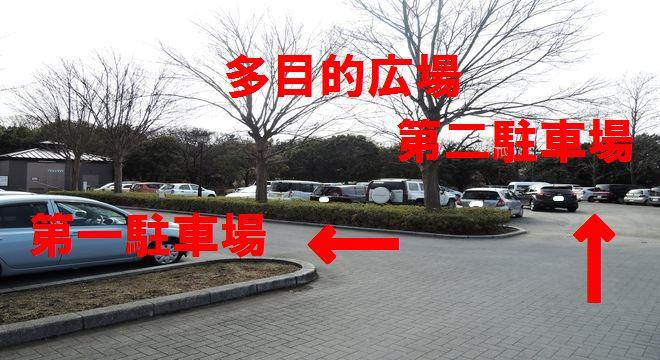 越谷梅林公園の第二駐車場