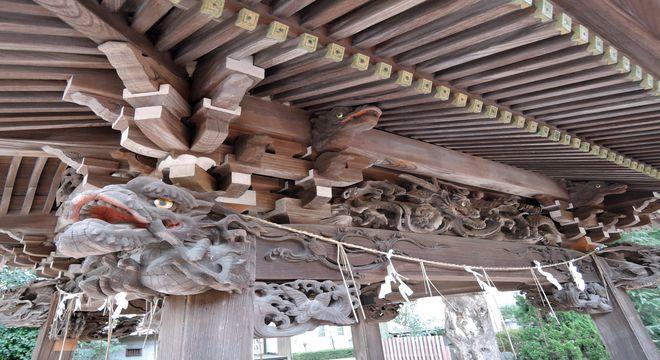 登竜門の彫り物