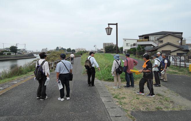 岩槻道と出羽堀跡