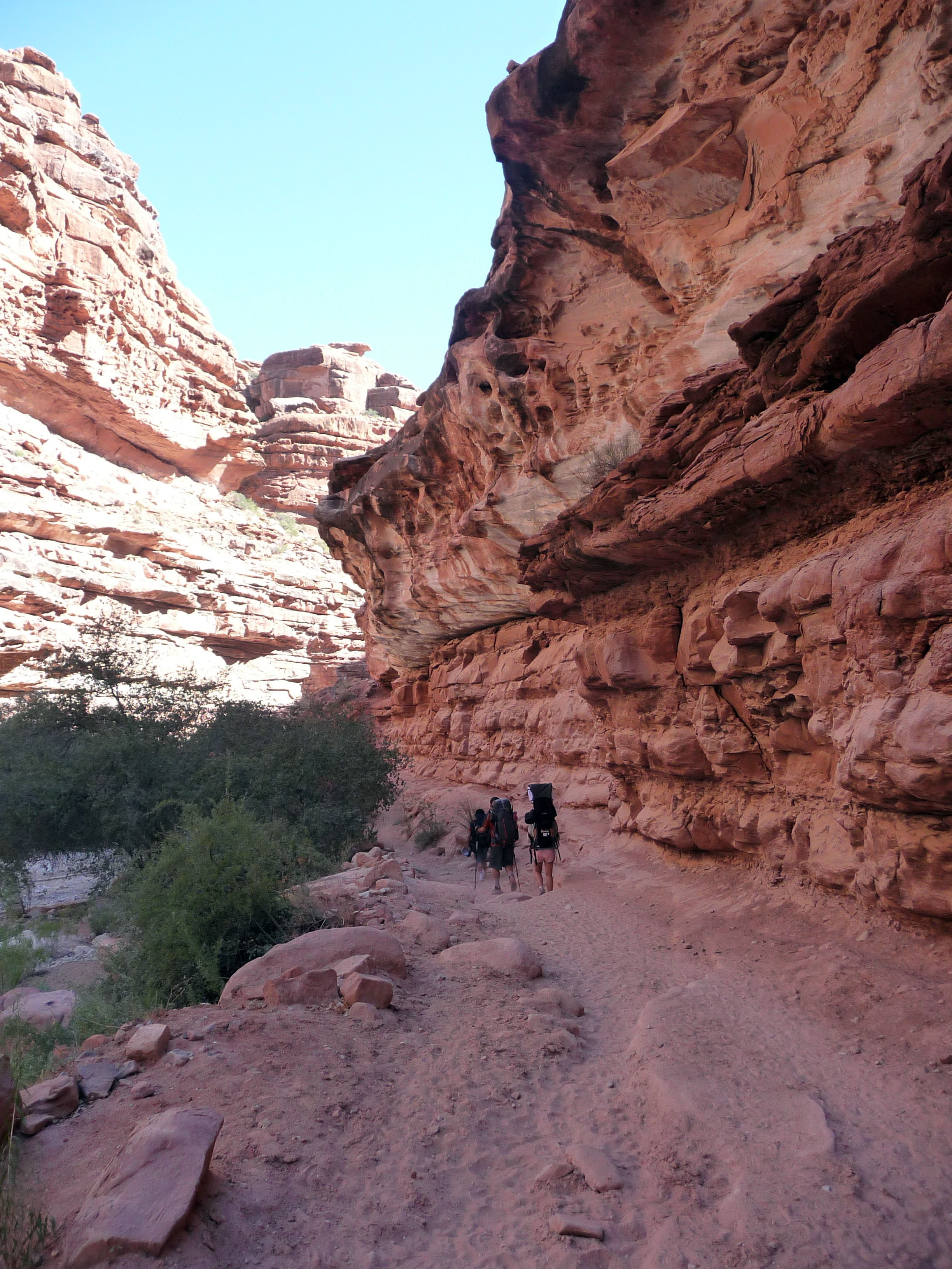 Walking through The Grand Canyon