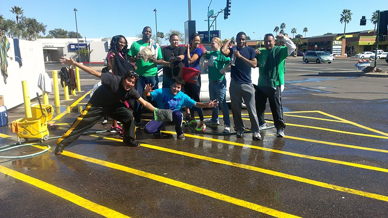 North House Church Missions Car Wash Crew!