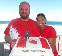 "Returning home to Canada, Tim & Lianne are getting ""To have their cake and eat it too"" as they lead the Toronto mission team!"