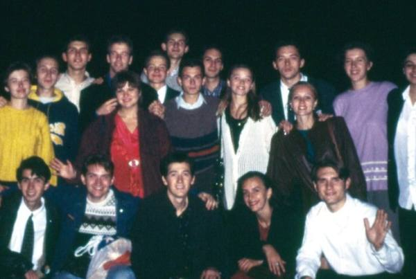 Oleg & Aliona (first row) surrounded by the Kharkiv Church Leadership in 1994!