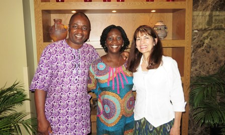 The McKeans meet for the very first time the Shepherds-in-Training Couple for the Lagos Church - Bolaji & Chinyere Akinfenwa!