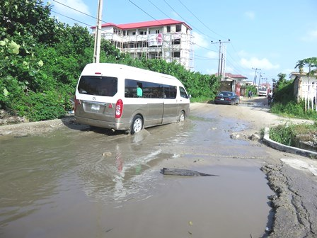 This is the road after we got off of the main highway! We are following the bus!